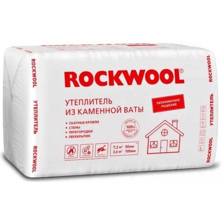 Утеплитель Rockwool Лайт Баттс Эконом 1000х600х50 мм (4,8 м²/0,24 м³)
